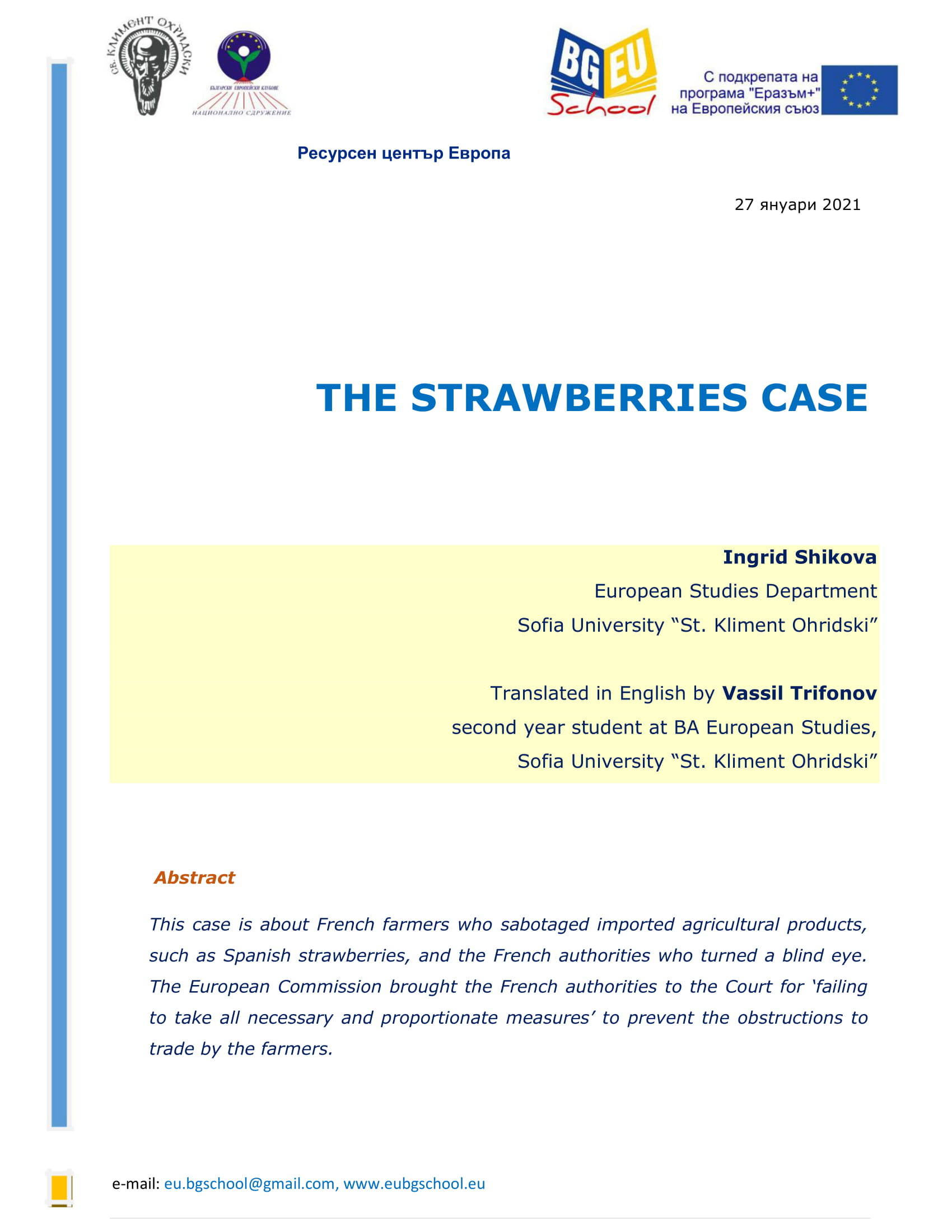 THE STRAWBERRIES CASE